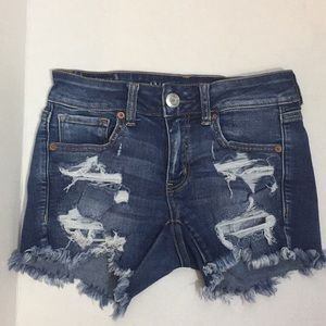 American Eagle distressed Jeans Shorts- Size 2